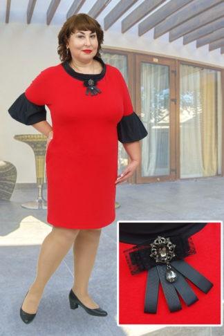 Платье Бомонд красный